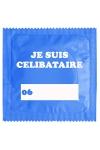 Pr�servatif   Je Suis C�libataire Bleu , un pr�servatif personnalis� humoristique de qualit�, fabriqu� en France, marque Callvin.