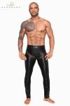 Pantalon moulant en powerwetlook mat et empi�cements transparents de filet 3D, tout cela ultra sexy !