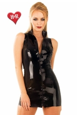Robe Front Zip Polo latex - Robe zippée col polo en latex haute qualité.
