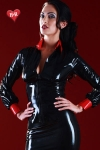 Chemisier vintage en latex skin Two haute qualit�, osez un look strict, mais toujours provocant.