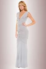 Robe longue Selene - Une seule robe longue pour 4 possibilités d'ajustement : nouée, décolletée, amazone ou bustier.