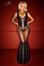 Robe Bad Girl - Une robe longue somptueusement provocante, avec le tulle transparent qui offre vos cuisses et vos fesses au plaisir des regards.