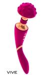 Vibromasseur 2 en 1 de luxe: un c�t� pour les massages  externes (clitoris), l'autre c�t� pour la p�n�tration et stimuler le point G.