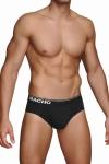 Slip noir � la coupe traditionnelle de la marque Espagnole de lingerie Masculine  Macho .