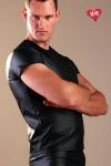 Tee-shirt moulant effet faux cuir, alliez confort et style.