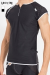 Tee shirt pour homme en r�sille large et lycra, � combiner avec la gamme de lingerie Mixing pour un style parfait.