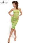 Faites-vous remarquer dans cette petite robe r�sille � bretelles vert flashy.